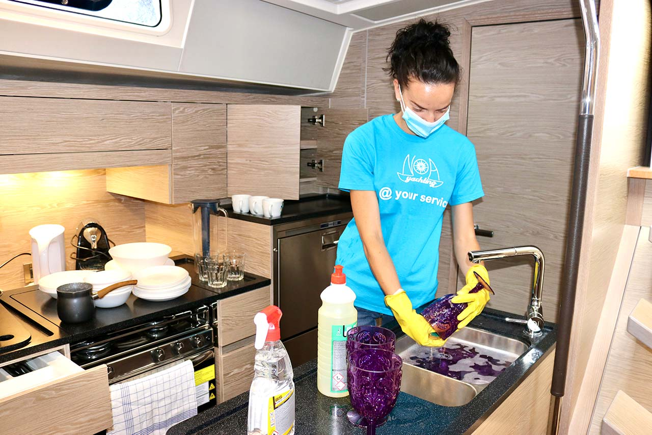 COVID-19 yacht cleaning procedure at Noa Yachting