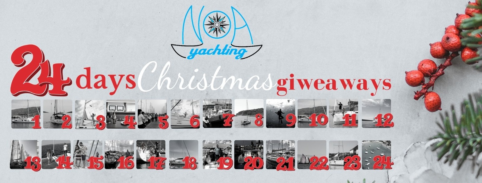 24 days of Christmas giveaways