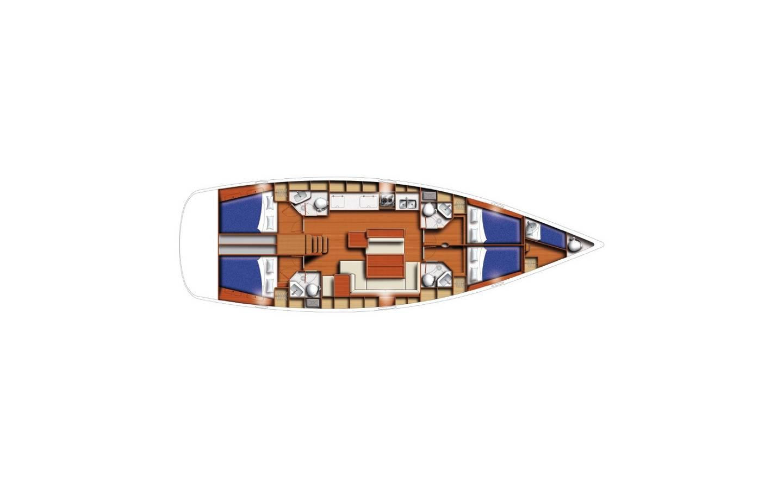 Oceanis 50.5 Renee IV- A/C, GEN